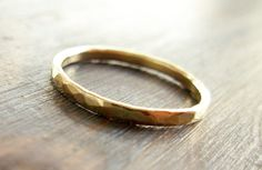 Gold. 14K Hammered Textured Band Wedding Ring Men Gold Ring. Fine Jewelry.