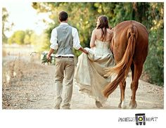 "Horse wedding photo   ""A Girl and her Horse""… » Rochelle Mort Studio"