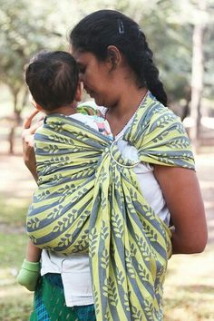 """New release - """"Switch Sides"""" 100% Cotton Jacquard Wrap Conversion Ring Sling  #soulslings #ringsling #wrapconversion #jacquard #babywearing #madeinindia"""