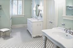 Ageless Ceramic Tile Collection Offers A Standard Color Palette In Various Formats; Mosaics In Traditional Patterns And Wall Tiles In Varying Sizes. Small Bathroom, Master Bathroom, Basement Bathroom, Bathrooms, Decor Interior Design, Interior Decorating, Hexagon Mosaic Tile, Ceramic Wall Tiles, Porcelain Tile