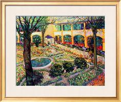The Asylum Garden at Arles, c.1889, by Vincent van Gogh