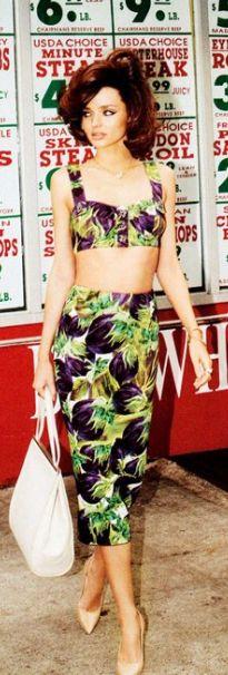 59a7679c66d38 Bra and skirt - Dolce  amp  Gabbana Dolce  amp  Gabbana Eggplant-print  stretch
