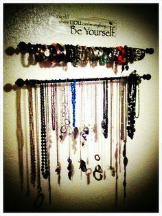diy necklace holders | Necklace/bracelet holder DIY