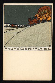 Christmas card of Wiener Werkstätte, 1920.