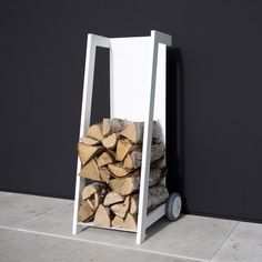 Not an English site, but this idea for wood storage.