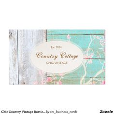 Chic Country Vintage Rustic Wood Shabby Chic Boutique Business Card