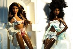 Barbie Dolls of the World Chile and Barbie Basics Mbili Swimsuit