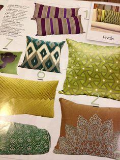 Our Ikat pillow via @Real Living Philippines #pillows #ikat #design #dwellstudio
