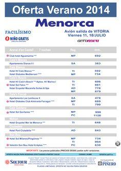 Menorca: Oferta hoteles en Menorca salidas desde Vitoria ultimo minuto - http://zocotours.com/menorca-oferta-hoteles-en-menorca-salidas-desde-vitoria-ultimo-minuto-2/