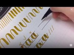#letterattack Lettering Lessons - Brush Lettering Alphabet aA - YouTube