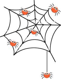Teia de aranhas Fall Crafts, Halloween Crafts, Holiday Crafts, Arts And Crafts, Daycare Crafts, Toddler Crafts, Painting For Kids, Art For Kids, 100 Day Project Ideas