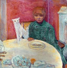 Woman with Cat (Pierre Bonnard, 1912)