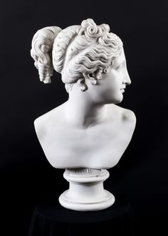 A magnificent marble bust of the Goddess Venus.