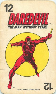 Marvel Comics Superheroes Card  Daredevil
