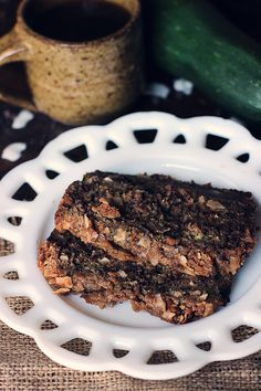 Chocolate Coconut Zucchini Bread with Coconut-Crumble Topping