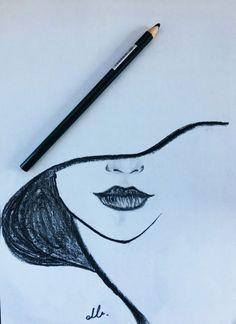 Drawing, 2019 dibujar arte, dibujos a lápiz ve cosas de dibujo. Easy Pencil Drawings, Art Drawings Sketches Simple, Cool Drawings, Drawing Ideas, Drawing Tips, Tumblr Drawings Easy, Pencil Drawing Tutorials, Cartoon Drawings, Easy Simple Drawings