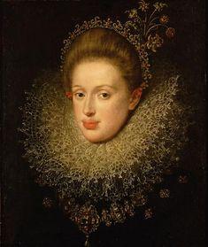 Portrait of Anna of Austria (1585-1618) - Hans von Aachen