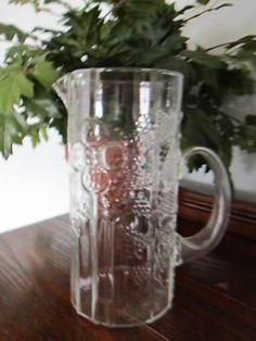 """$100.....Scandinavian Arabia Finland """"Flora"""" pitcher Iittala Oiva Toikka Mint! (12/30/2012)"""