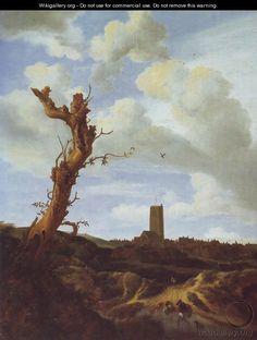View of egmond aan zee with a blasted elm - Jacob Van Ruisdael ...