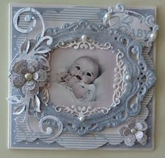 Scrapbook Layout ~ 1 Photo baby black and white