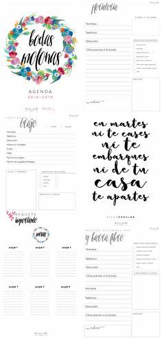 agenda gratis planificar boda (wedding planner)