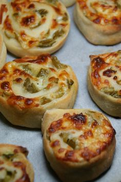 Green Chile & Jalapeno Pizza Rollups- we would make our own pizza dough and use fresh  /frozen green chile