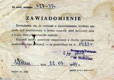 Tak bywało. Jeszcze na początku lat 80 były dzielnice w Warszawie gdzie telefon był luksusem. Poland Country, The Lost World, Warsaw, The Past, Childhood, Communism, Memories, Humor, Pictures