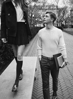 Benjamin Eidem and Cameron Russell star in a preppy fashion editorial shot by Lachlan Bailey in the Spring/Summer 2013 issue of Man About Town. Mode Inspiration, Character Inspiration, Writing Inspiration, Fotografia Pb, Couple Photography, Fashion Photography, Photography School, Photography Music, Black Photography