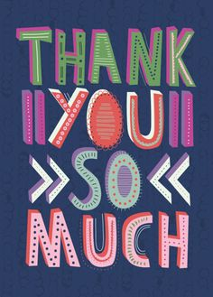 Last year designer Rebecca Prinn was working at Riverside Plus Ltd creating fab card designs. She is now working freelance for greetings . Thank You Wishes, Thank You Messages, Thank You Quotes, Thank You Cards, Night Messages, Art And Illustration, Thank You Poster, Thank You Typography, Thank You Images