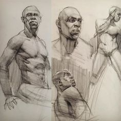 Quick figure drawings and demos of an excellent model! From 5-20 minutes. #allaprima #artmodel #figuredrawing #figure #charcoaldrawing #drawing #lifedrawing #africanamerican #aau #academyofartuniversity #teachingartist #fineart #realistart #realism #kevinwueste #instagood #instartist #igers #dessin #desenho #dessin