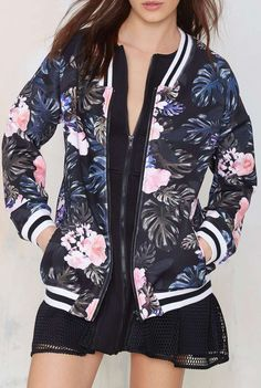 The Fifth Fall in Neoprene Bomber Jacket  I want this sweater
