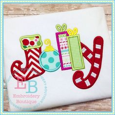 Jolly Applique 4x4, 5x7, 6x10 and 8x8 hoops.