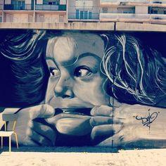 By Lozio (dzio) - Nice (France) Grafitti Street, Street Wall Art, Street Art Love, Best Street Art, Amazing Street Art, Graffiti Art, Nice France, Art Deco, Outdoor Art