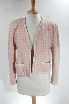 73bf49158d1548 Details about Gorgeous Vintage CHANEL Pink Fantasy Tweed Jacket Original  Tags! Women's Size 14