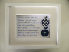 Adorable Baptism and Christening Present Personalised Gift Ideas