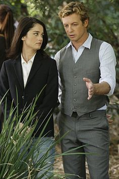 Still of Robin Tunney and Simon Baker in The Mentalist (2008)