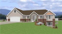 Main image for house plan # 6549 (idea for basement access)