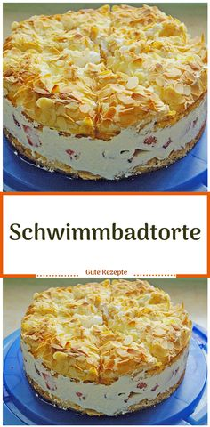 Schwimmbadtorte – Famous Last Words Fondue Recipes, Dessert Recipes, Antipasti Platter, Pool Cake, Party Food Platters, Veggie Tray, Vanilla Cake, Food And Drink, Modern Kitchens