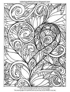 Coloring With Dwyanna Awareness Ribbon Page