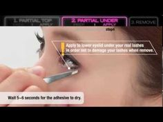 How to wear PARTIAL false eyelashes quickly and easily? by shu uemura - YouTube