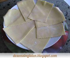Esta masa de pasta fresca sin gluten, fue destinada para una lasaña de verduras.   Se pueden hacer otras formas, por ejemplo raviolis rel...