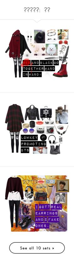 """「강윤기」:  남자"" by laughing-alec75 on Polyvore featuring Glamorous, Dr. Martens, Miss Selfridge, Kenneth Jay Lane, DKNY, ZeroUV, Burfitt, Jean-Paul Gaultier, Monki and Mia Bag"