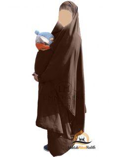 Jilbab marron, jilbab jupe, Jilbab umm hafsa, jilbab maternage, Jilbab de portage, jilbab allaitement, jilbab 2 pieces, jilbab deux pieces, jilbab pas cher