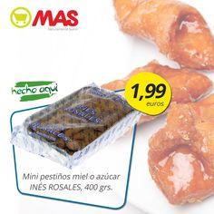 Pestiños de la marca Inés Rosales, de azúcar o de miel, igual de buenos! Hasta el 30 de marzo, en #oferta en nuestros Supermercados MAS!  #ahorro #dulces #SemanaSanta