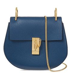 CHLOE Drew leather shoulder bag (Factory blue)