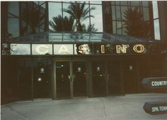 Entrance to casino from pool area. Dan Tana was seen walking under this sign in the TV series, Vega$ - morning - August 1990