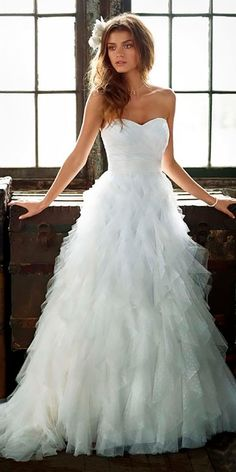 strapless sweetheart with tiered skirt cheap wedding dresses under 750 davids bridal
