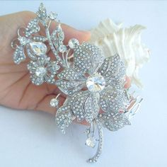Wedding Hair Accessories Bridal Hair Jewelry by VanessaJewel,