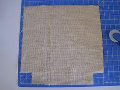 La Maison Reid: Burlap Tote with Shabby Rose: Another Tutorial! Diy Burlap Bags, Burlap Tote, Burlap Crafts, Sewing Hacks, Sewing Tutorials, Sewing Projects, Sewing Tips, Sewing Patterns, Burlap Projects