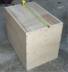 "This is another Plyometric Box ""how-to"", to compliment the original ""How To Build A Plyometric Post"" . Building a 20""x24""x30"" Plyo Box."